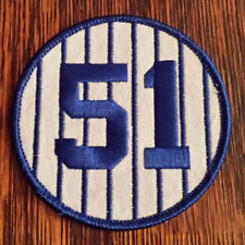 LAST ONE!! BERNIE WILLIAMS NEW YORK YANKEES RETIRED JERSEY NUMBER 51 PATCH