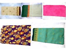 Indian Georgette saree sari wholesale 10 Pcs lot multi color traditional Art