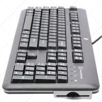 Teclado ESPAÑOL HP E6D77AA USB con LECTOR de DNI / Tarjetas SMART / DNIe 3.0