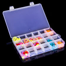 24 Slots Case Home Organizer Earring Jewelry Container Box Plastic Storage Box