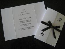 100 DIY Gatefold Personalised Wedding Invitations