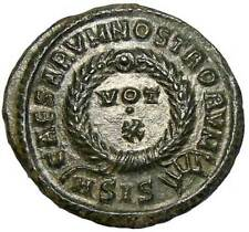 "Siscia Sun on Constantine II AE3 "" VOT X"""