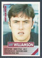 PANINI SUPERPLAYERS 1996 #293-WEST HAM UNITED-DANNY WILLIAMSON