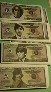 WHOLESALE LOT OF 400 THE BEATLES NOVELTY MONEY JOHN LENNON USA US DOLLAR BILLS