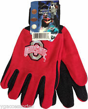 NWT NCAA Ohio State Buckeyes Non-Slip Gripper Sport Adult Utility Work Gloves