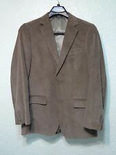 Saddlebred Brown Corduroy Mens Size 38 R Dress Coat 2 Button Sport Coat