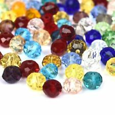 Mixed Color 100Pcs/Pack Glass Crystal Beads Loose 4*6mm DIY Jewelry Crafts