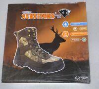 Herman Survivors 8 inch Men's Realtree Camo Waterproof Hunting Boots, 11 WIDE