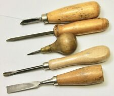 (5) Wood Working - Carving Tools / Vintage Hand Tools / Speedball