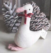 IB LAURSEN, große Stoff Gans / Goose, Weihnachtsgans, Baumwolle,  weiß - Rot
