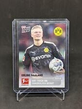 2020 Topps Now Bundesliga Erling Haaland 1st Dortmund Card PR /487