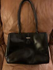 Longchamp Black Leather Tote