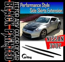 CARKING GLOSSY BLACK PAINTED PERFORMANCE SIDE SKIRTS for 2009+ NISSAN 370Z