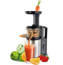 Extracteur de Jus lent Fruit Legume Slow Juicer 150 Watt Acier Noir VEGAN BIO