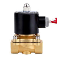 """DC12V 3/8"""" Brass Electric Solenoid Valve Water Air N/C Gas Water Air"""