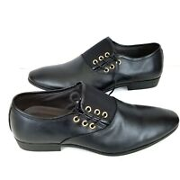 Men's Oxfords Leather Shoes US Size 9 Black Formal Pointy Toe Lace Up Chengfa