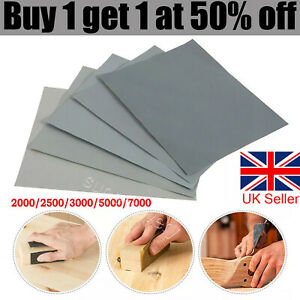 20Pcs Wet and Dry Sand Paper Mixed Assorted DIY Grit 2000 2500 3000 5000 7000