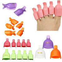 5/10pcs Soak Off Clip Caps Polish Gel Nail Art Toe Tips Reusable Remover Wrap