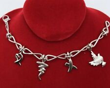 Authentic Tiffany & Co. Sterling Silver 4 Charms Bracelet (BT026)