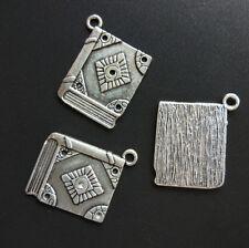10pc Retro Magic book Tibetan Silver Charms Pendant Bracelet Jewelry Accessories
