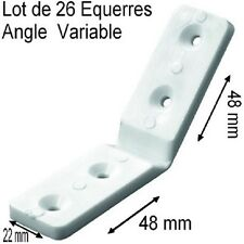 26 Equerres d'Assemblage,Angle Variable,Plastique,48x48x22mm,Table,Chaise,Meuble