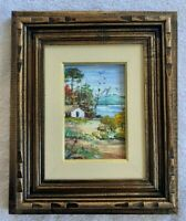 Original Stunning Hand Painted Framed Landscape by Shidon Soares (12 x 10in) 1