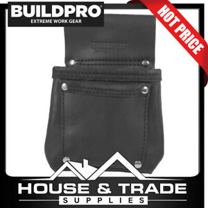 BuildPro Hold All Bag Leather Heavy Duty Stitching Pouch LBFHAB