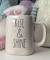 "Rae Dunn By Magenta Coffee/Tea Mug NEW ""Rise & Shine"" Free Shipping"