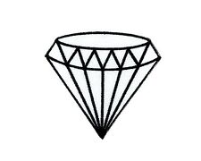 Patch backpack white diamond gem gemstone iron on glue carat retro jewelry