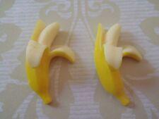 Sweet Yellow Resin Banana Earrings - Free Gift Wrapping Kawaii