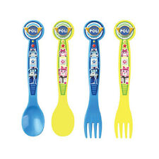 Robocar Poli spoon fork 4pcs set / Poli spoon fork 4P set (standard & sweety)