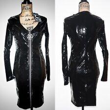 Killstar Underworld Sorceress PVC Pentagram Front Zip Dress Size M