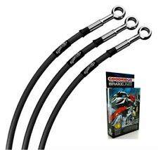 KAWASAKI GPZ750 E1-E2 TURBO 83-87 CLASSIC BLACK BRAIDED STD FRONT BRAKE LINES
