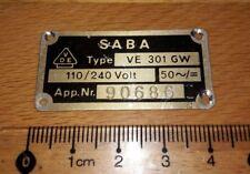 Emblem/placa de identificación/insignia-Saba Type ve301gw