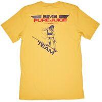 SIMS Pure Juice skateboard 1970's retro T-shirt Dogtown Powell Santa Cruz tee