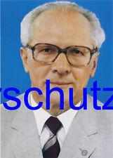 Cartolina Erich Honecker segretario generale del CDC della SED 14,8 x 10,5 cm II