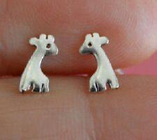 925 Sterling Silver Cute Giraffe Ear studs Earrings Solid Animal Boxed