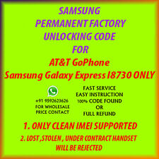 Samsung Galaxy Express  UNLOCK CODE I8730 AT& NO OR OUT OF CONTRACT PHONE ONLY