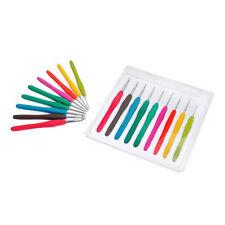 Nuevo hágalo usted mismo 1set/9pcs Color mezclado Gancho De Metal Crochet plantilla Kit Para Telar herramienta Banda