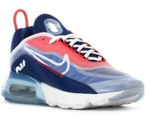 Nike Air Max 2090 Men's Size 10.5 Shoes White/Chile Red/Deep Royal Blue Trainers