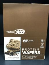 Optimum Nutrition  Protein Wafers  Chocolate Creme, 9 Packs, 10/31/2021