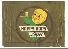Happy Hops Lager Beer Label, Non-Irtp, North Bay, Santa Rosa, Ca