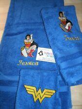 Supergirl Personalized 3 Piece Bath Towel Set Super Hero Your Color Choice