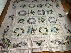 "NEW Handmade Flower box Pattern Quilt  87"" x 87"""