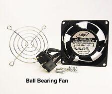 80mm 38mm Case Cabinet Fan 110V 115V 120V AC Ball Finger Guard Cooling 8038 368*