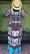 Colorful Traditional San Felipe Usila Huipil, Hand Woven Tuxtepec Oaxaca Mexico