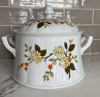 Vintage Wunsiedel Bavaria Retsch Porcelain Soup Tureen Serving Dish Floral MCM