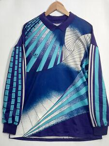 RARE Adidas Vintage Retro Goalkeeper #1 Shirt Jersey Trikot 1990's Size L / XL