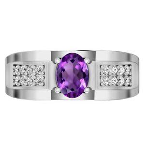 Sterling Silver Amethyst Ring, Natural Gemstone Amethyst Ring, Handmade Ring,