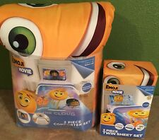 The EMOJI MOVIE 2 piece Twin/Full Reversible Comforter & Twin Sheet Set NEW